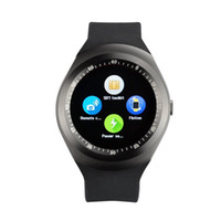 Wholesale y1 smart watch for sale - Y1 smart watches Latest Round Touch Screen Round Face Smartwatch Phone with SIM Card Slot smart watch for IOS Android