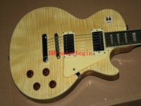 Wholesale cheap quality string guitars online - Natural Custom Electric Guitar Wooden Mahogany body High Quality Cheap