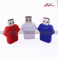 Wholesale Wholesales MB MB MB GB GB GB GB GB Memory USB Flash Drive T shirt Design Suit for Color Logo Print