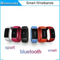 Wholesale intelligent white phone online - S55 Sport Smart Watch intelligent Bluetooth sleep monitoring waterproof Smart bracelets Smart wristbands for IOS Android Phone