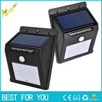 Wholesale New Arrival LED Solar Light With Motion Outdoor IP65 Waterproof Wall Lamp Energy Saving PIR Motion Sense Garden Light