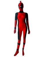 Wholesale deadpool costume for sale - New style Deadpool Costume Red full body spandex girl women female Killer Queen Costume Prelude to Deadpool Corps Cosplay Bodysuit