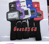 Wholesale For Ipod nano nano7 Armband Protector Black Sport Running GYM Arm Band Soft PU Leather Jacket Pouch case strap skin cellphone luxury