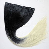 Wholesale Synthetic Ponytails Clip in hair g inch ombre B two colors straight hair extensions hot sale
