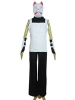 Wholesale naruto cosplay online - Naruto Shippuden Kakashi Anbu Halloween Party Suit Cosplay Costume