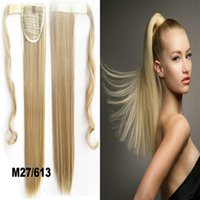 Wholesale PC inch g Synthetic Long Straight Clip In Ribbon Ponytail Hair Extension hairpiece pony Tail Hair Pieces
