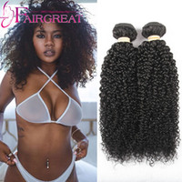 Wholesale good weft human hair online - Good Quality mongolian kinky curly hair extensions pc kinky curly human hair wefts Mongolian hair weaves Top Rated