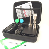 Wholesale Portable Colorful ENAIl electric dab nail kits PID temperature digital dabber box with Ti Quartz nails coil heater for water glass bong