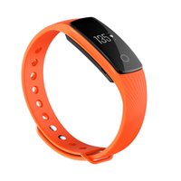 Wholesale id107 smart bracelet online - ID107 Plus Sports Smartband Watch OLED Heart Rate Monitor Guided Breathing Fitness Tracker Smart Bracelet for Android iOS