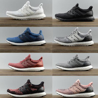 Wholesale High Quality Ultraboost Uncaged Running Shoes Men Women Ultra Boost III Primeknit Runs White Black Athletic Shoes Size