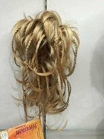 Wholesale 2017 New fashion cute bendable wire braid blonde clamp short ponytail Straight hair pieces