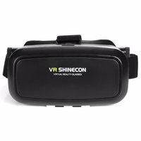 Wholesale VR Shinecon VR Virtual Reality Real D Glasses Helmet Cardboard Mobile D Movie Cinema for iPhone Samsung inch Smartphone