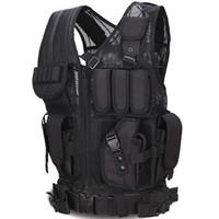Wholesale outdoor tactical vest online - 2017 Outdoor Sport Combat Tactical Vest Sports Wear Hunting Vest Army Swat Molle Vest