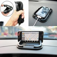 Wholesale automobile phone holders online - Good quality Silicone interior anti slip mat auto anti skid phone holder pad Multifunctional for gps cellphone automobile anti skid pad