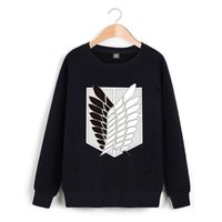 Wholesale attack on titan online - Malidaike Anime Attack On Titan Spring and Autumn Round Neck Sweater Hoodie Outwearcoat Cosplay Costume Gift