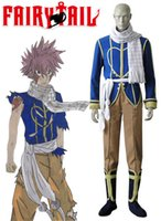 Wholesale natsu costume for sale - Fairy Tail Dragon Slayers Natsu Dragneel Celestial Spirit outfit costume Cosplay