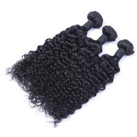 Wholesale black curly weave hair extensions online - Unprocessed Indian Human Remy Virgin Hair Jerry Curly Hair Weaves Hair Extensions Natural Color g bundle Double Wefts Bundles