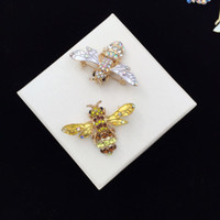 Wholesale fitted women wedding dresses for sale - Crystal insect Honey Bees Brooches Silk Buckle Cute Fashion For blouse and dress fit for woman and girls XZ62