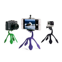 Wholesale octopus tripod stand phone holder for sale - Gekkopod Portable Mount Universal Flexible Gecko Mini Tripod Multi Function Phone Camera Stand Octopus Spider Holder For Cell Phone case