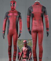 Wholesale female deadpool costume online - Deadpool jumpsuits cosplay halloween costumes