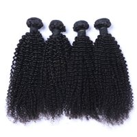 Wholesale black curly weave hair extensions online - Peruvian Human Remy Virgin Hair Kinky Curly Hair Weaves Natural Color g bundle Double Wefts Bundles Hair Extensions
