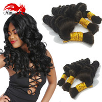 Wholesale products for human hair extensions online - 16 quot quot Virgin Peruvian Human Hair Loose Curly Bulk Hair For Braiding Unprocessed Human Hair Bulk Extensions Pure Color Hannah Product