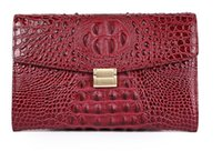 Wholesale clutch bags online - Top quality Women Clutch bags Imported Crocodile leather surface cow leather inner cm wide Envelope bags soft leather buisness casual