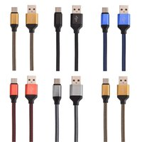 Wholesale oneplus phone online - 1M FT Fabric Braided Micro V8 Type C Cable Nylon Line Metal Plug Type C USB for MacBook Xiaomi C Letv Phone Oneplus etc