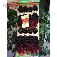 Wholesale crochet human hair extensions for sale - FASHION loose wave Brazilian hair extension mongolian curly human braiding hair crochet braids blended weave sew in hair extensions