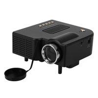 Wholesale usb pocket pc online - UC28 Portable LED Projector Cinema Theater PC Laptop VGA USB SD AV HDMI Input White Mini Pocket Projector