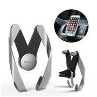 Wholesale car phone holder iphone for sale - Universal Car Air Vent Moblie Phone Holder Outlet Adjustable Phone Holders For iPhone Samsung S6 S7 S8