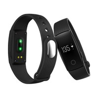 Wholesale id107 smart bracelet online - ID107 Smart Bracelet Heart Rate Monitor Music Remote Control Fitness Cardio Tracker Wristband for IOS Android Pk Mi Band