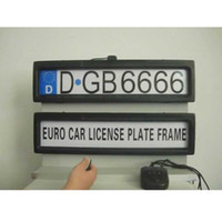 Wholesale car licences for sale - Auto black steel Licence Plate Frame front and rear two a set license plate frame Stealth Remote car Privacy Cover