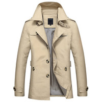 Wholesale mens winter jackets for sale - Winter Men Jackets Casual Jackets And Coats Men Black Slim Trench Coat Mens Parka England Style Luxury Outwear Jacket Plus Size M XL