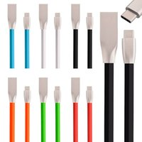 Wholesale flat noodle cable for sale - 1m Flat noodle D Zinc Alloy Fast charging Type C Usb Sync charger cable For Huawei P9 Mate LG G5 Nexus One Plus