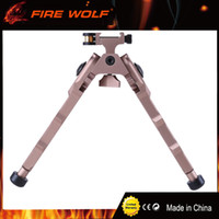 Wholesale FIRE WOLF Tactical BR Bolt Action Quick Detach Bipod fit mm Picatinny Rail for Rifle Scope Black Tan