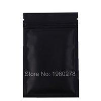 Wholesale fast food packages online - Fast shipping CM Black aluminum foil zip lock bag barrier resealable food candy packaging ziplock bags
