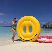 Wholesale cans customize online - Factory Direct Sale The New Super Large Inflatable Smiling Face Pool Floating Mat Facial Expressions Water Supplies Can Be Customized mt