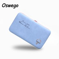 Wholesale package umbrella online - Cartoon Umbrella Pattern Ladies Long Wallet Phone Package Boxes Female Bag Women Leather Boxes Wallet Purse Card Holder Clutch