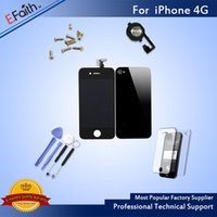Wholesale iphone complete front screen assembly for sale - For iPhone G Full Complete Black LCD Screen Front Display Digitizer Glass Screen Assembly With Accessories