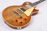 Wholesale electric guitars customs for sale - Custom made Guitar Jimmy Page Tiger honey burst Electric Guitar In Stock new arrival