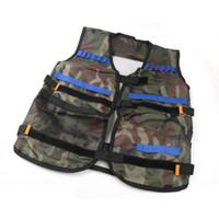 Wholesale outdoor tactical vest online - 54 cm colete tatico Outdoor Tactical Adjustable Vest Kit For N strike Elite Games Hunting vest Promotion