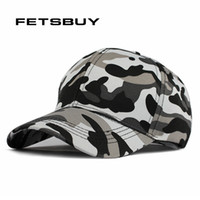 Wholesale desert camo cap online - FETSBUY Mens Army Camo Cap Baseball Casquette Camouflage Hats For Men Hunting Camouflage Cap Women Blank Desert Hat