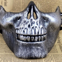 Wholesale airsoft skull mask online - Skull Masks Fun Paintball PVC Airsoft Scary Skeleton Mask Protective CS Games Halloween Carnival Outdoor Party
