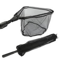 Wholesale Goture Aluminum Folding Fishing Net Different Size Landing Net With Extending Telescoping Pole Multifilament Hand Net