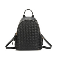 Wholesale korean small backpack online - 2017 new Korean fashion hand woven personality all match simple student Shoulder Bag Backpack China manufacturing sale