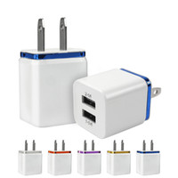 Wholesale best usb adapter for sale - Best Price A A Dual USB Port US Plug Colorful Home Travel Charger Power Adapter For iPad iphone S Plus Samsung