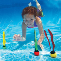 Wholesale kids diving toys online - Kids Pools Play Outdoor Sport Dive Diving Grab Stick Sea Plant Swimming Swim Pool Water Sports Dabble Train Grab Toys sx J1