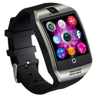 Wholesale q18 smart watch online - 2017 Q18 Smart Watch Bluetooth Smart watches For Android Phone with Camera Q18 Support TF Card NFC Connection with Retail Package