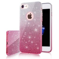 Wholesale glitter case online - 3 In Bling Glitter Gradient TPU Silicone PC Case For IPhone S Plus S8 S7 Edge J5 Prime Pro